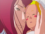 Baby Naruto and Kushina