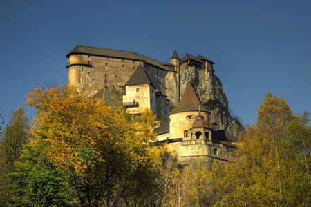 Orava Castle - medieval, orava, stone, slovakia, tower, fortress, trees, castle