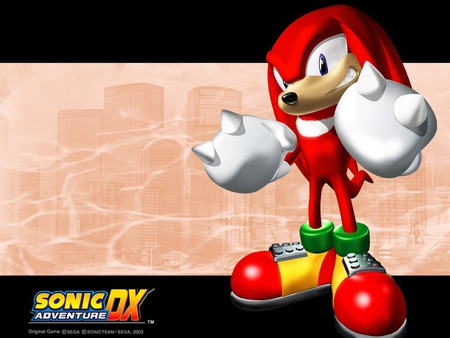 Sonic Adventure DX-Knuckles - knuckles, water, echidna, video games, sonic adventure dx, sonic