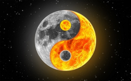 Sun Moon Ying Yang Fantasy Abstract Background Wallpapers On