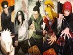 Kiba, Akamaru, Neji, Shikamaru, Deidara, Sasori