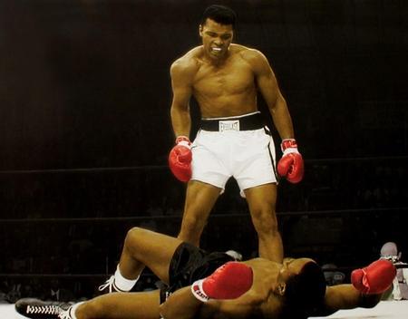 Muhammad Ali Fighting Sonny Liston Shirtless