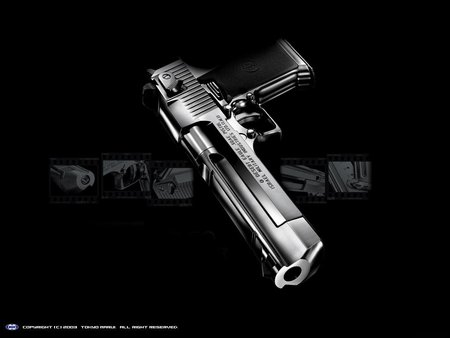 THE BAD ASS HANDGUN - desert eagle, handguns, 50-calaiber