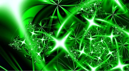 abstract  3d  cool  stars  Really Cool Green Backgrounds