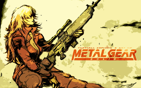Metal Gear Solid - guns, sniper wolf, metal gear, metal gear solid