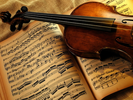 I love music - photography, music, violin, note, book