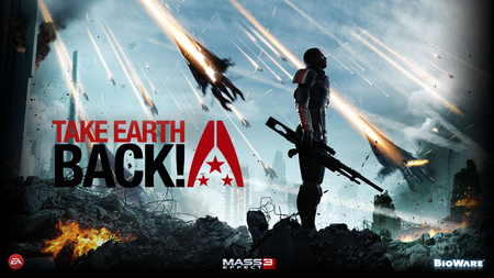 Mass Effect 3 Take Earth Back - ps3, mass effect 3, take earth back, xbox 360, shepard, game, bioware, pc
