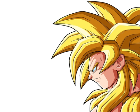Goku - goku, dbz, super saiyan, white background, dragonball kai, spiky hair, dragonball, dragonball gt, anime, son goku, long hair, blue eyes, fur, ssj4, male, dragonballz, saiyan, dragonballz kai, lone, solo