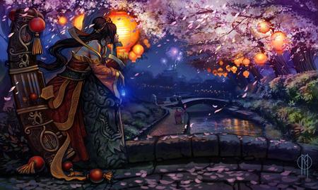 AbandonBane's Lunar Reverly Winning Sona Art - art reverly winner, geisha, league of legends, lunar, sona