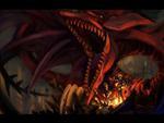 Yugi with Slifer The Sky-Dragon