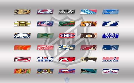 NHL Teams Logos Wallpaper