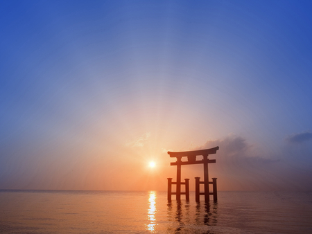 Torii Gate Sunsets Nature Background Wallpapers On Desktop Nexus