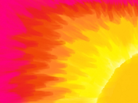 Plain Sunset - bright, colorful, sunset, plain