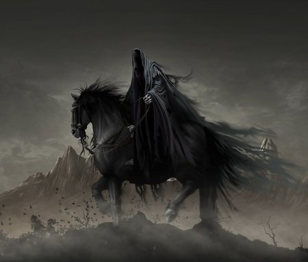 Wraith - wraith, fantasy, rider, dark, abstract, artwork