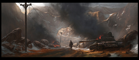 Warzone - paintings, digital art, wallpaper, other