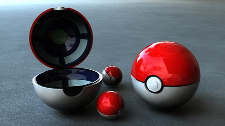 spheres , red and silver - open and closed, hd, spheres, red and silver