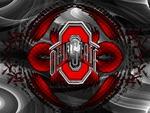 RED BLOCK O TRANSPARIENT OHIO STATE