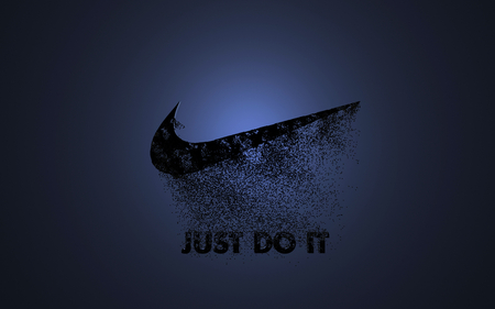 just do it! - just, it, blue, black, logo, nike, do