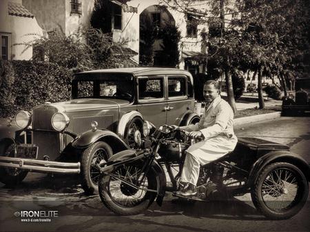 Old school 3 harley davidson motorcycles background - Old school harley davidson wallpaper ...