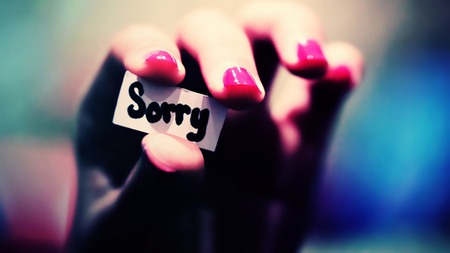 Sorry - paper, sorry, photography, hand