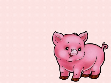 Pink pig other animals background wallpapers on - Pig wallpaper cartoon pig ...