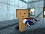 Danbo and his Portal Gun