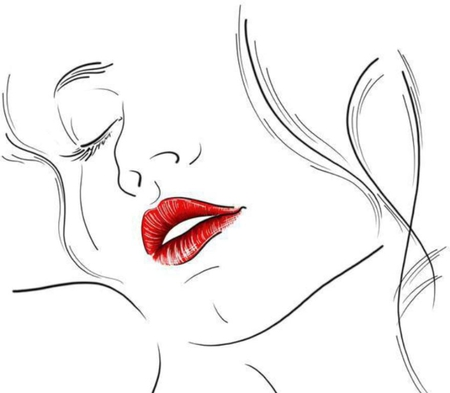 While your lips are still red - color, drawing, wall, colour, lips, sketch, white, image, picture, pic, woman, wallpaper, red