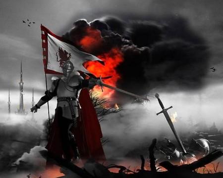 war - fire, war, weapon, dark, sword, warrior