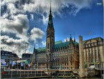 hamburg city hall hdr
