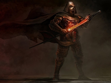 Darth Vader feudal style - force, star wars, sith, empire, lightsaber