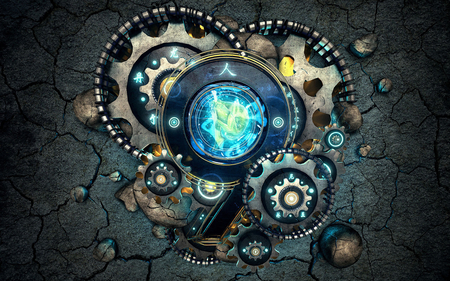 Gears Of Beauty 3d And Cg Abstract Background Wallpapers