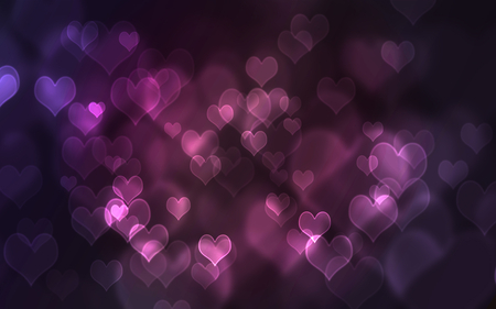 Hearts hearts hearts - purple, hearts, abstract, love