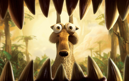 eating scrat - scrat, animated, ice age, movies
