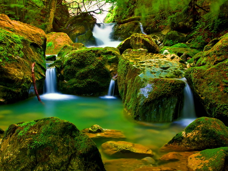 Forest falls waterfalls nature background wallpapers - Waterfalls desktop wallpaper forest falls ...