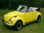 '73 VW Super Beetle Convertible