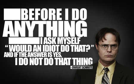 Dwight Schrute Quote - office, comedy, dwight, idiot, tv, show, series, schrite, quote, the