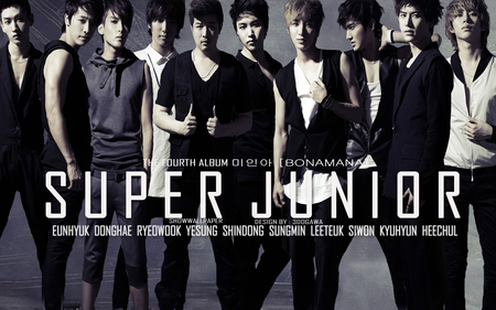 Super Junior Bonamana - kyuhyun, white, junior, suju, heechul, sj, eunhyuk, yesung, shindong, sungmin, ryeowook, donghae, siwon, leeteuk, super, black, bonamana