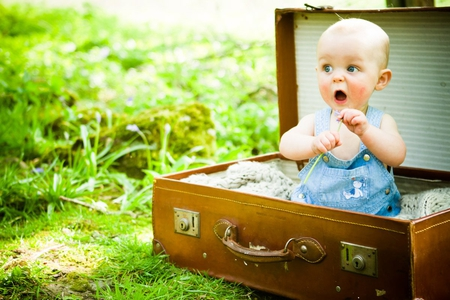 Cute Baby - box, innocent, in, baby