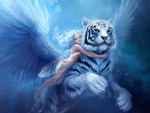 white tiger with wings